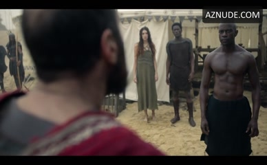 DAVID GYASI NUDE/SEXY SCENE IN TROY: FALL OF A CITY