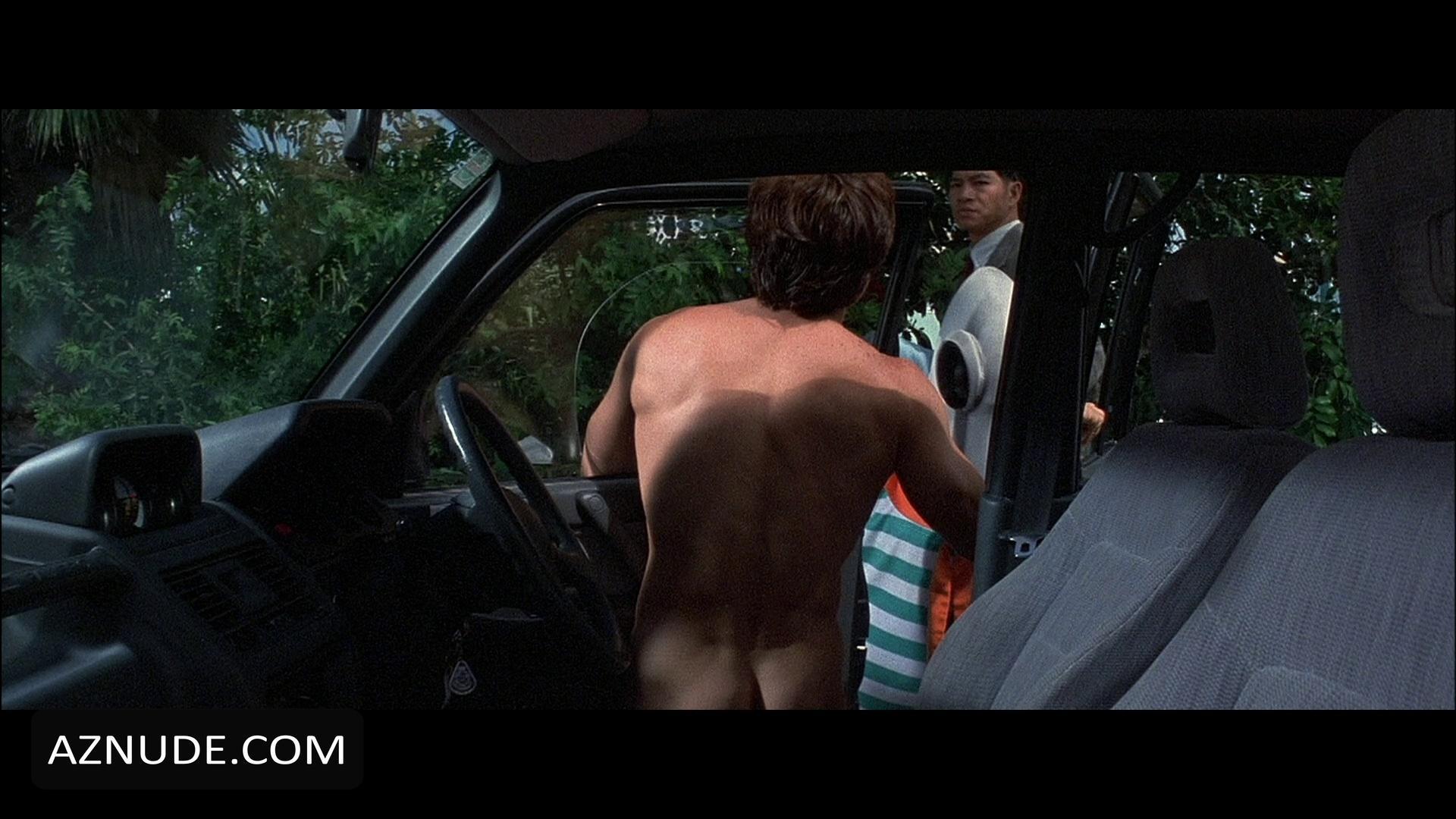 man fondling naked woman